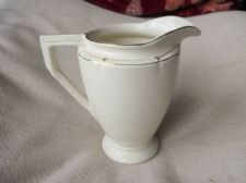 RARE GILDED ART DECO JUG BURLEIGH 6625 PATTERN Rd888581 CREAMY TEXTURED #2